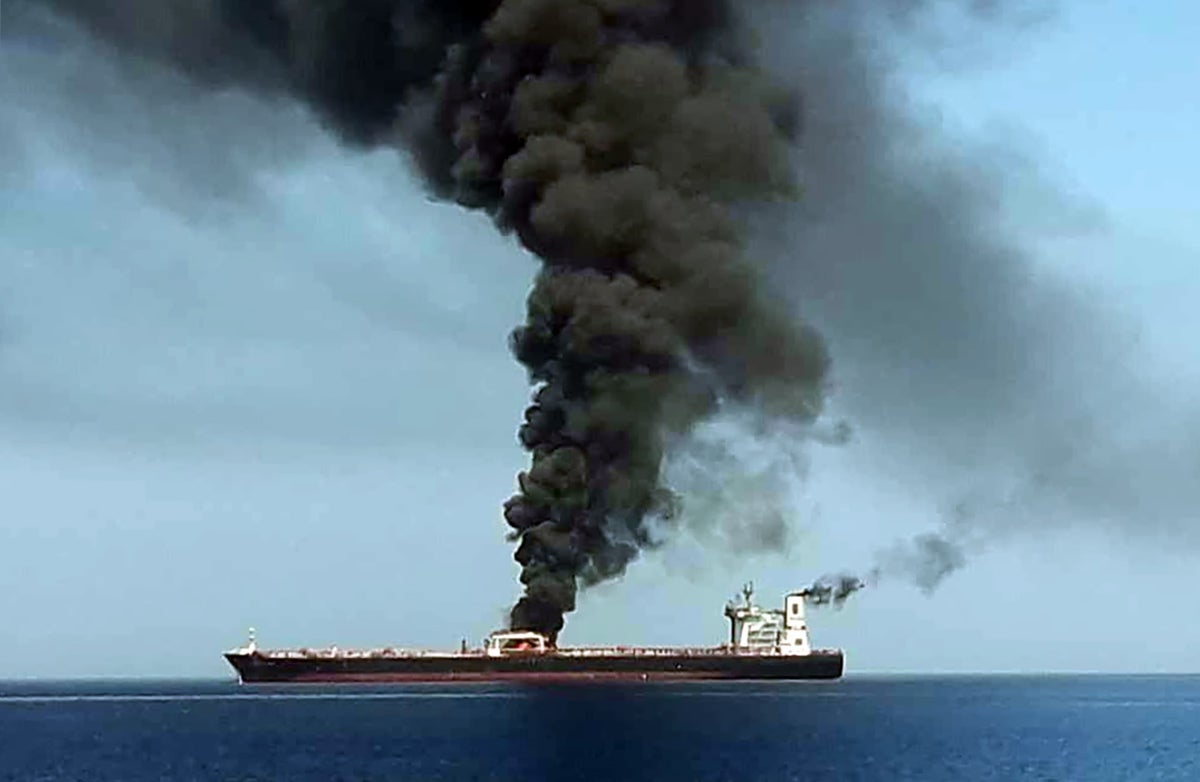 Gulf of Oman 'attack': Oil tankers 'on fire' amid rising tensions between Iran and rivals