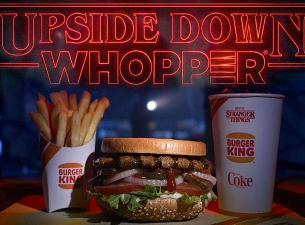 Burger King is selling an upside down Whopper in honour of Stranger Things (Burger King)