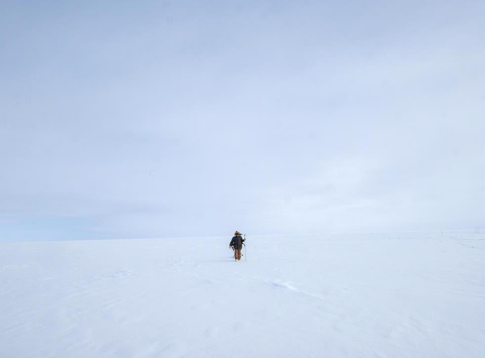 Ian Raphael practices data gathering techniques beyond Utqiagvik, Alaska