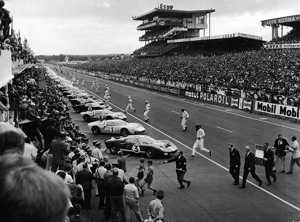 Le Mans 1966: drivers used to start the race by running across the track to their cars but this was banned from 1970