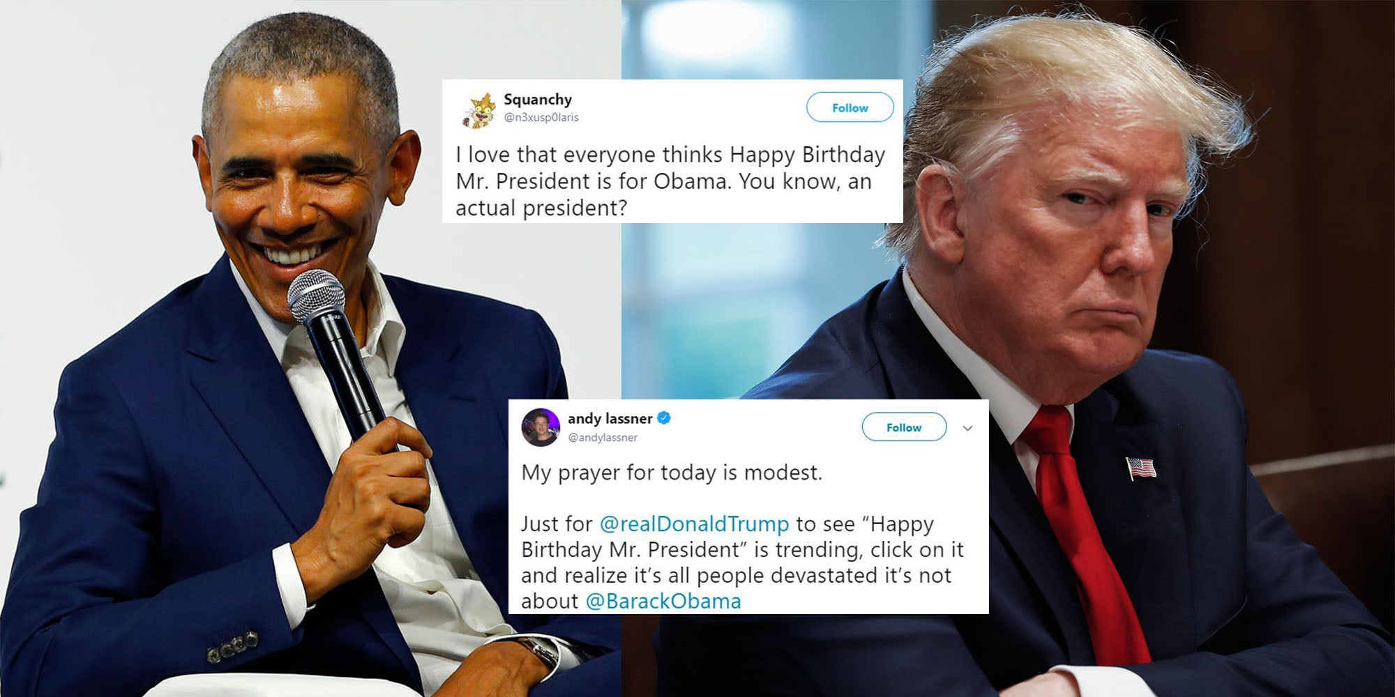 Donald Trump Twitter Mocks President By Using His Birthday To Celebrate Obama Indy100