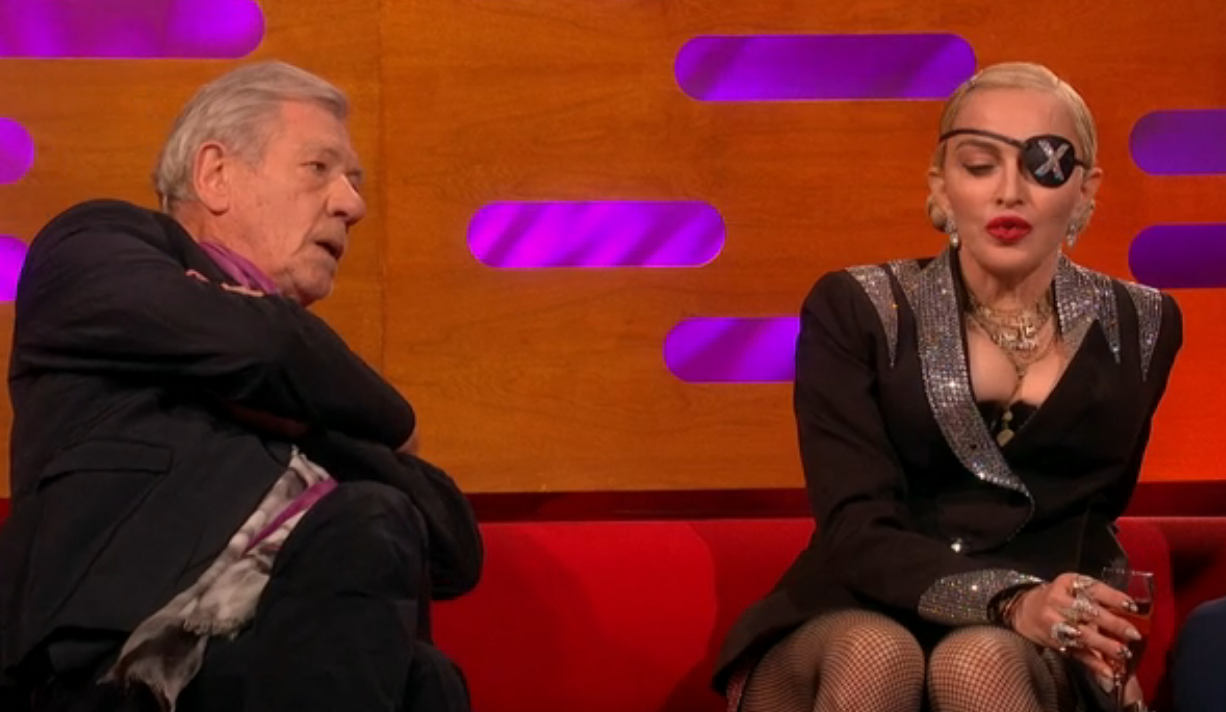 Madonna criticised for 'rude' interactions with Sir Ian McKellen on The Graham Norton Show