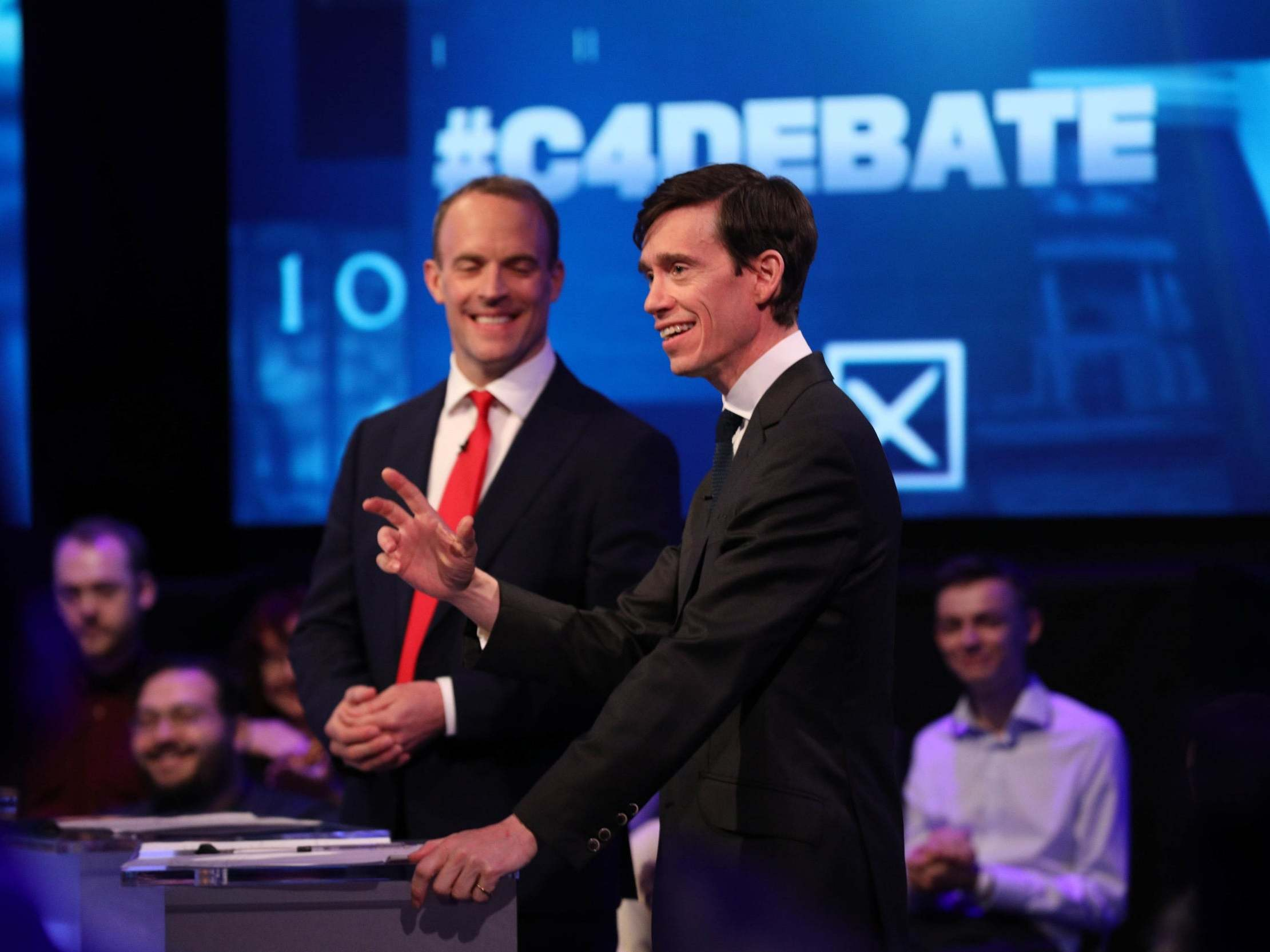 Tory leadership debate: Rory Stewart compares Brexit promises to cramming rubbish into a bin