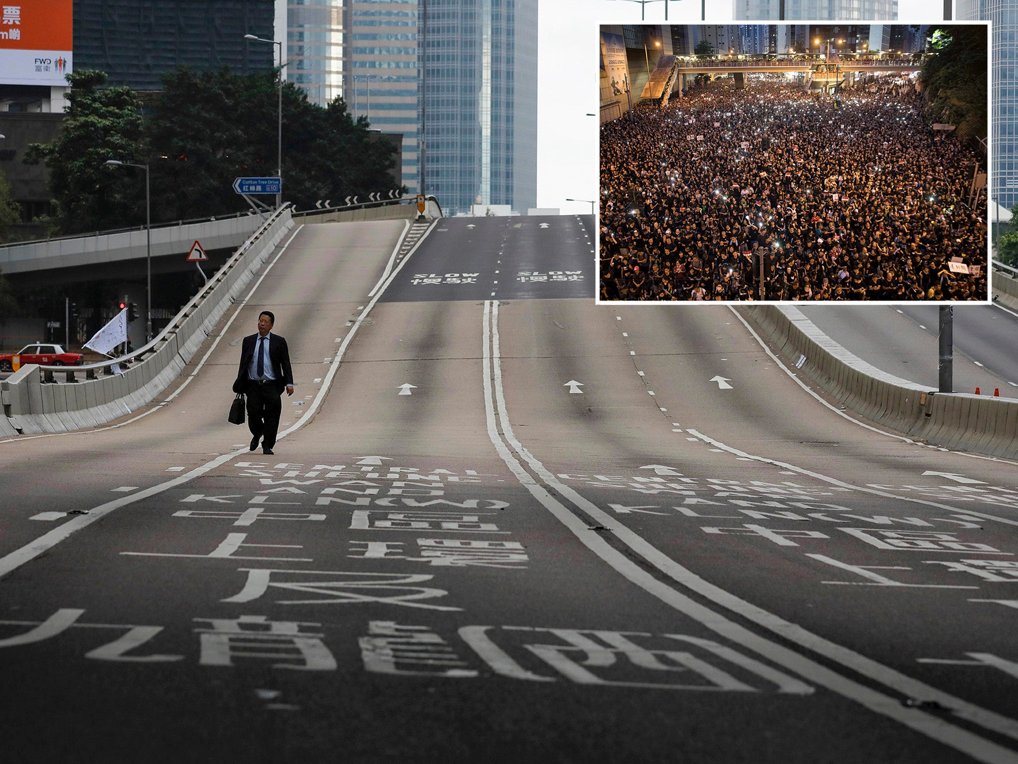 Hong Kong protesters praised for cleaning up streets after two million person march