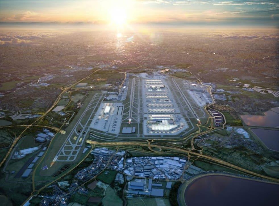 Artist's impression of Heathow's expansion plans