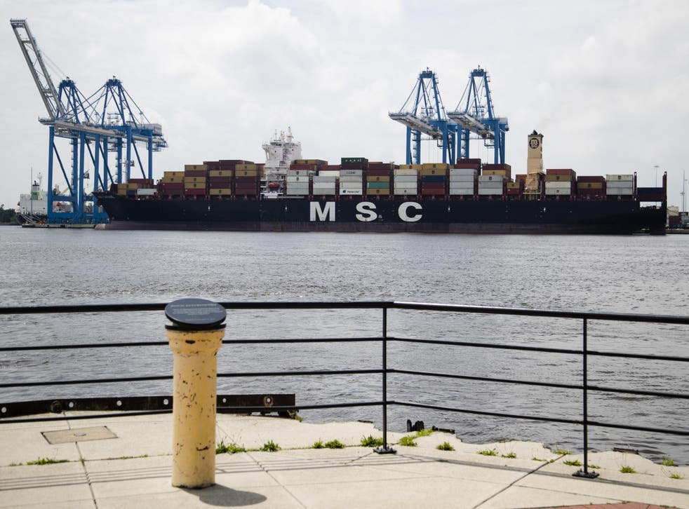 Authorities seized a historic amount of cocaine on the MSC Gayane container ship, pictured above on the Delaware River in Philadelphia.