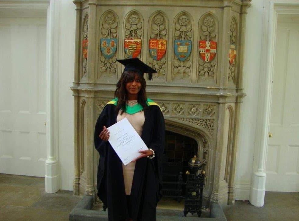 Mahe Henadeerage on her graduation day
