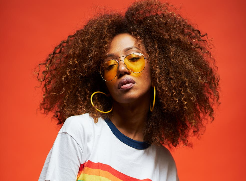 Young woman with afro-textured hair