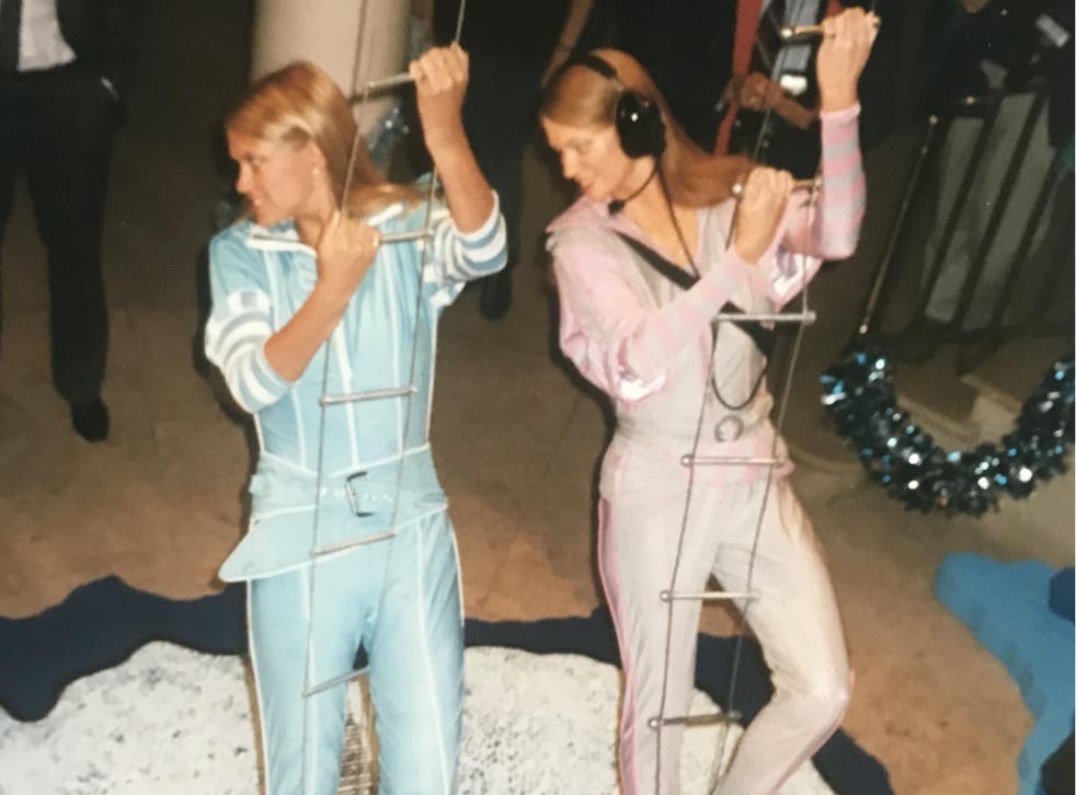 Madame Tussauds' waxwork (right) of the broadcaster Anneka Rice (left)