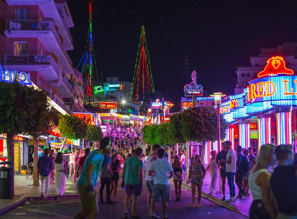 British tourists have for years been flocking to the district of Punta Ballena for its nightlife