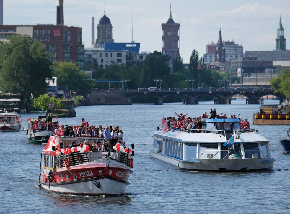 Boats on the Spree River in Berlin