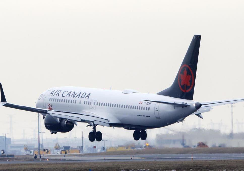 An Air Canada plane approaches Toronto Pearson Airport (file photo)