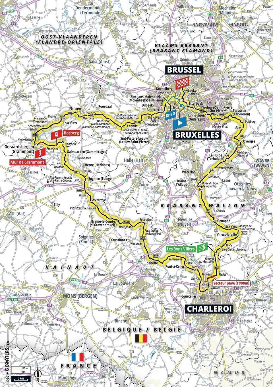 Tour de France 2019: Stage-by-stage guide, route, map, start, dates De Map on