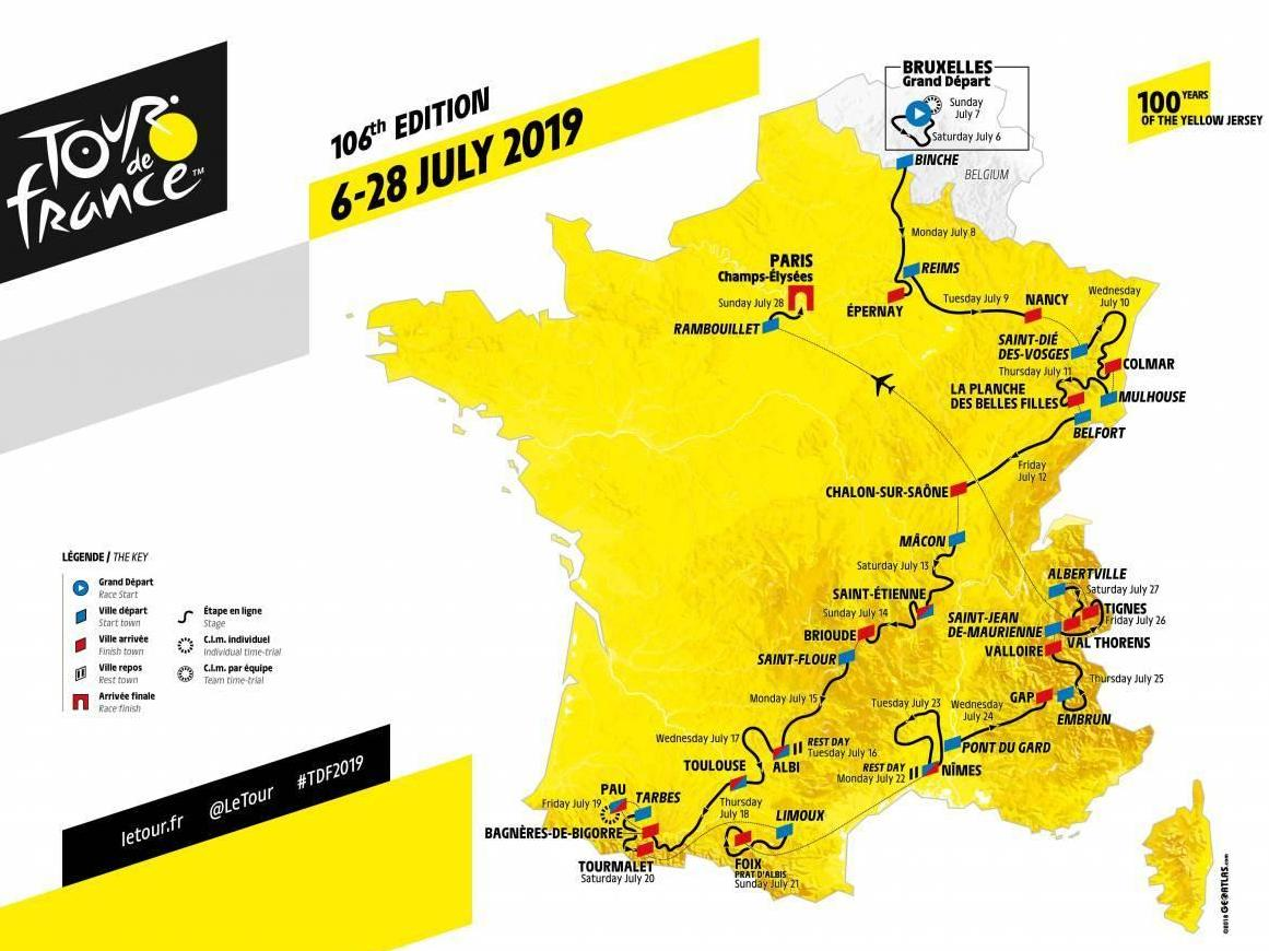 Le Tour De France 2019 Tour de France 2019: Stage by stage guide, route, map, start