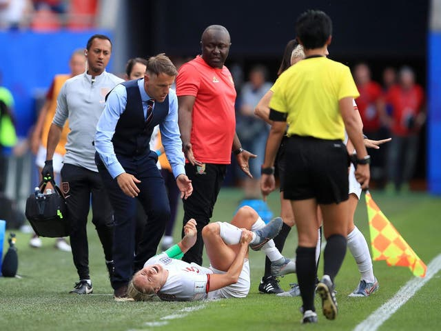 Steph Houghton was subjected to a horror tackle