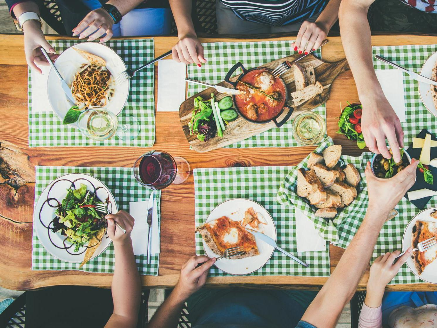 Average adult enjoys eight meals per week from international