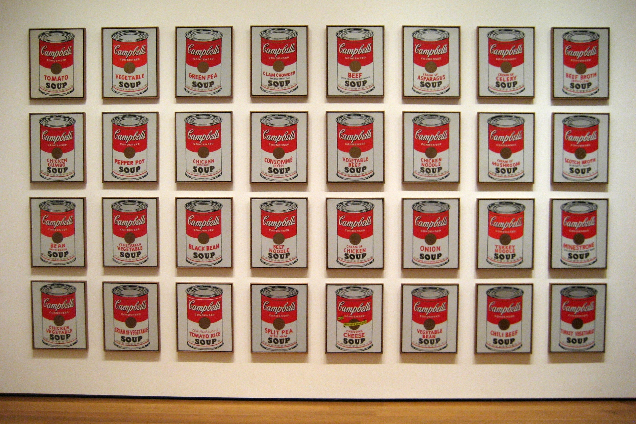 Andy warhol's Campbell's Soup Cans (1962), Andy Warhol at the Museum of Modern Art, New York