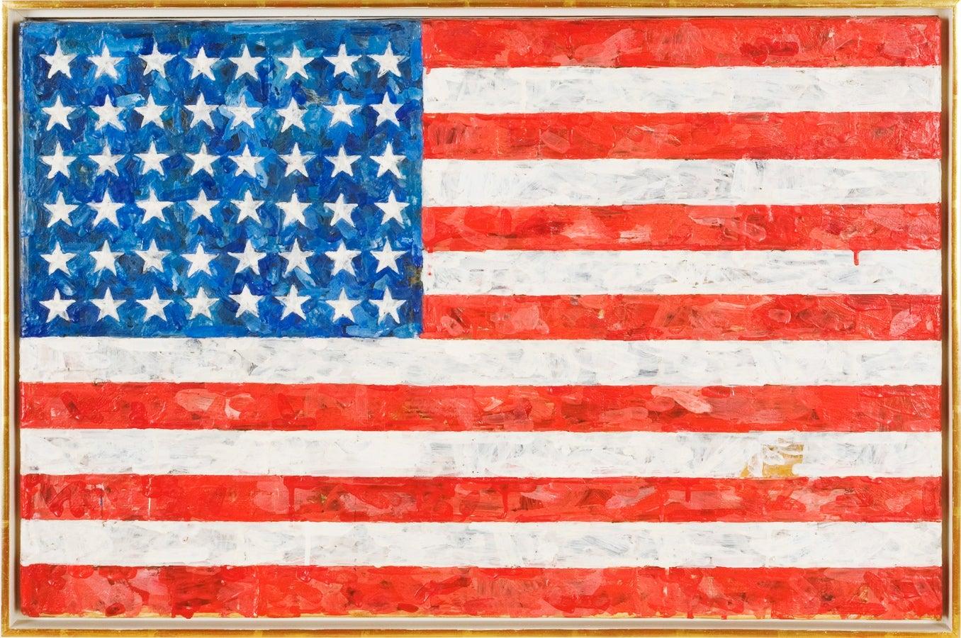 Jasper Johns's Flag (1954-1955) at the Museum of Modern Art, New York