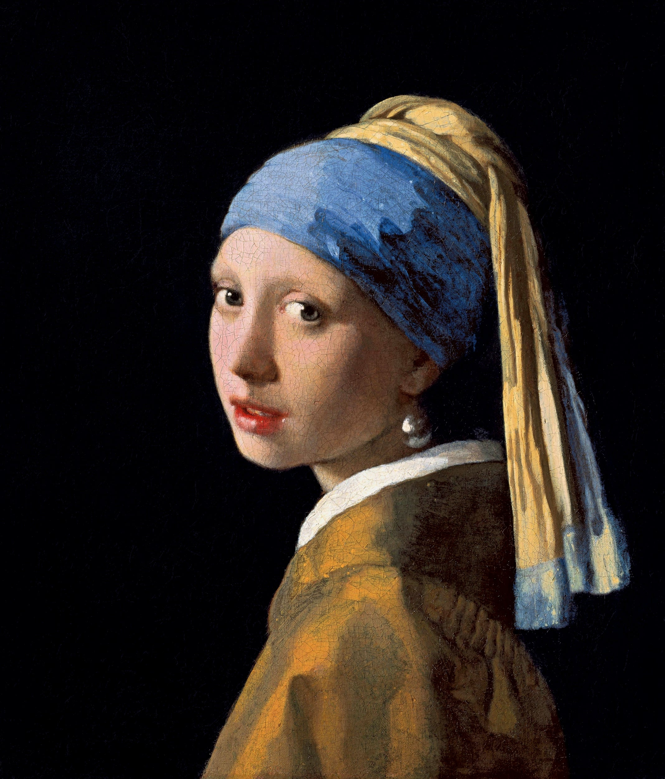 Johannes Vermeer's Girl with a Pearl Earring (c.1665) at the Mauritshuis in The Hague