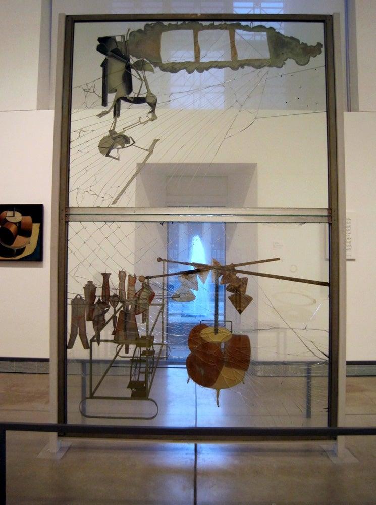 Marcel Duchamp's The Bride Stripped Bare by Her Bachelors, Even (1915-1923) at Philadelphia Museum of Art, Philadelphia