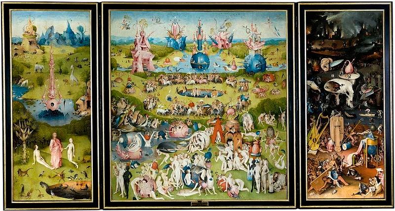 Bosch's The Garden of Earthy Delights (1503-1515) at Museo del Prado, Madrid