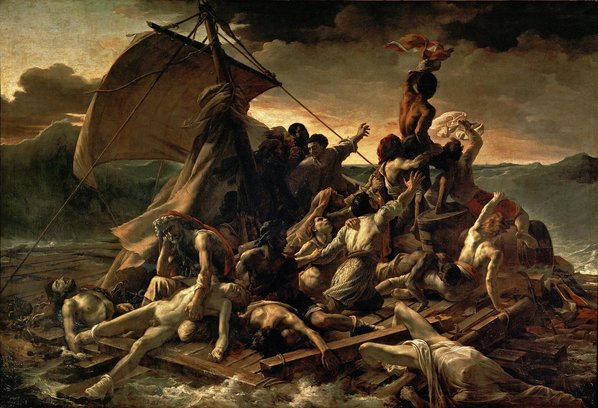 Theodore Gericault's The Raft of the Medusa (1818-1819) at The Louvre, Paris