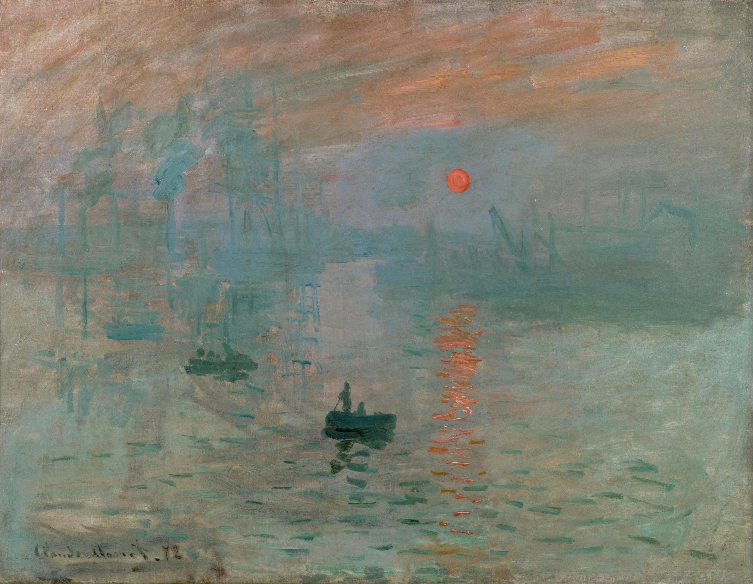 Claude Monet's Impression, Sunrise (1872) at The Musée Marmottan Monet, Paris