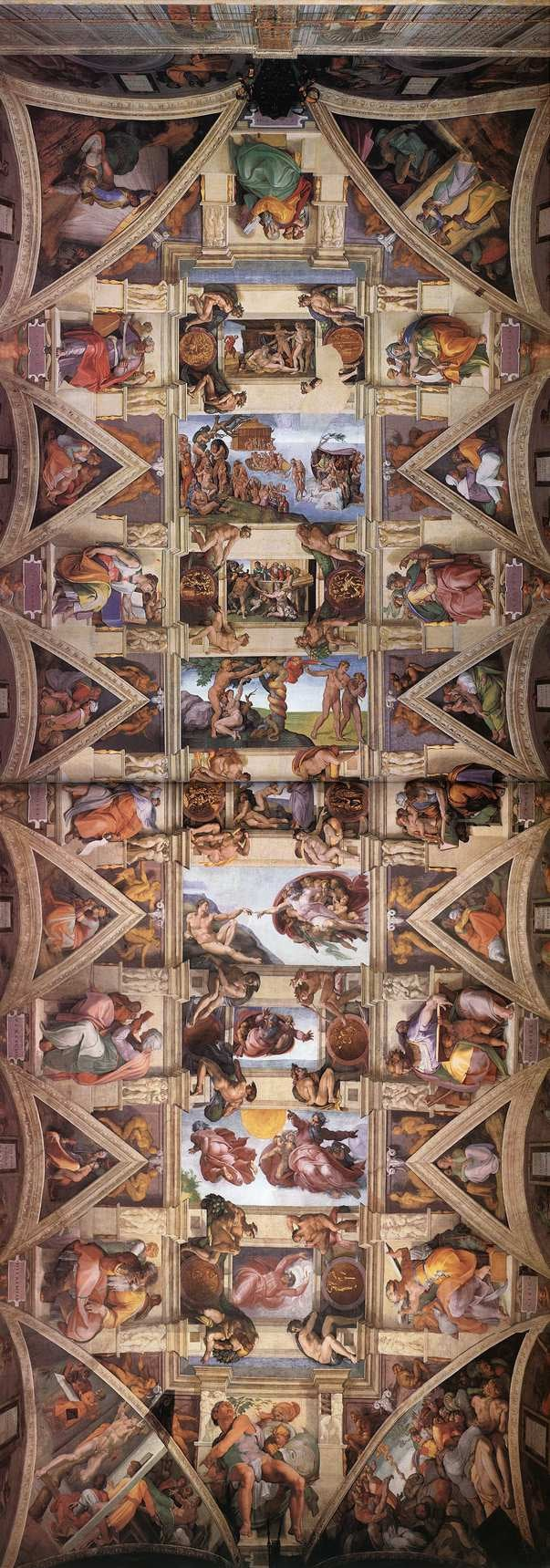 Michelangelo's Sistine Chapel ceiling (1508) in Vatican City