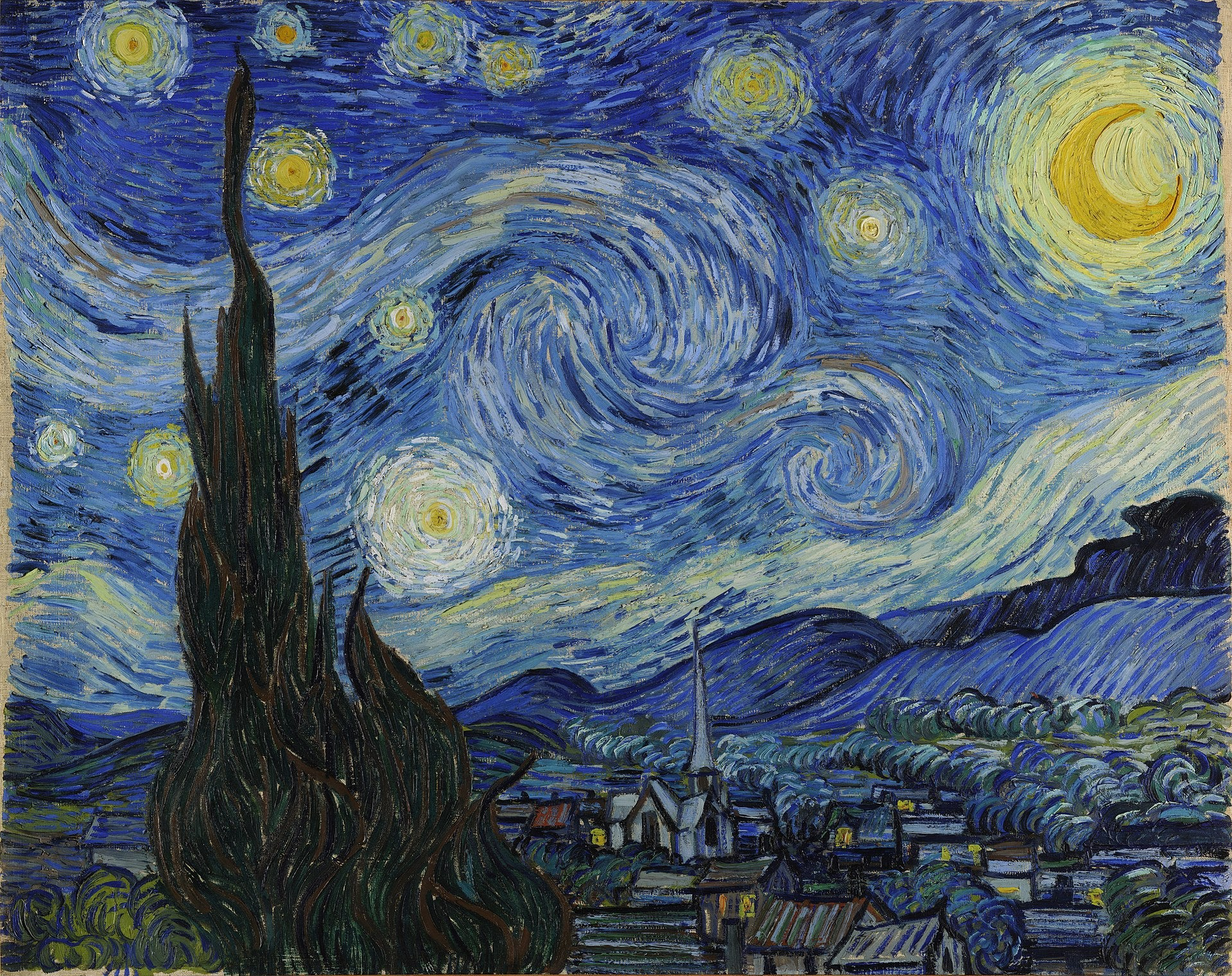 Vincent van Gogh's The Starry Night (1889) at The Museum of Modern Art, New York