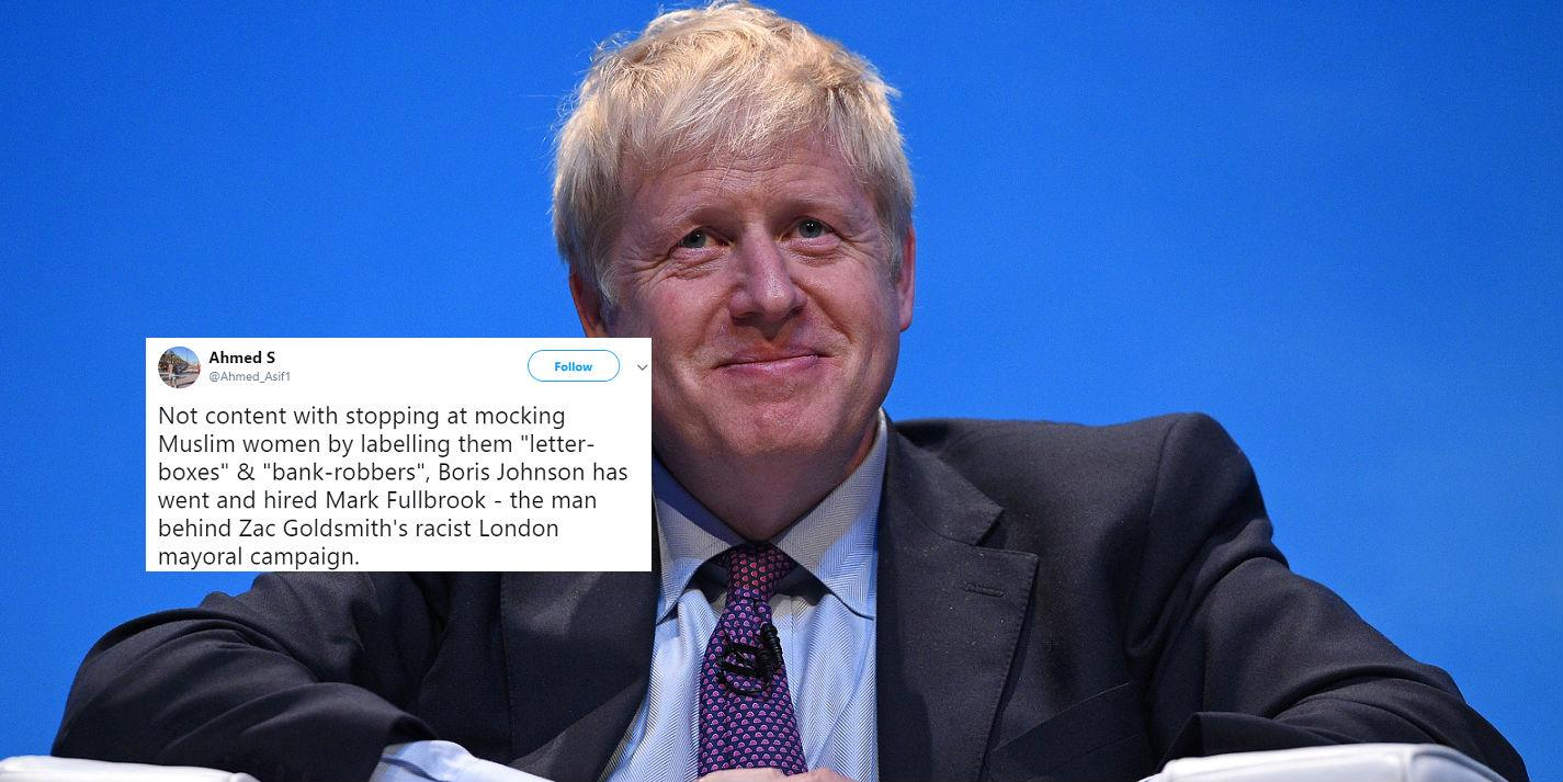 People are criticising Boris Johnson for recruiting man behind 'raci…