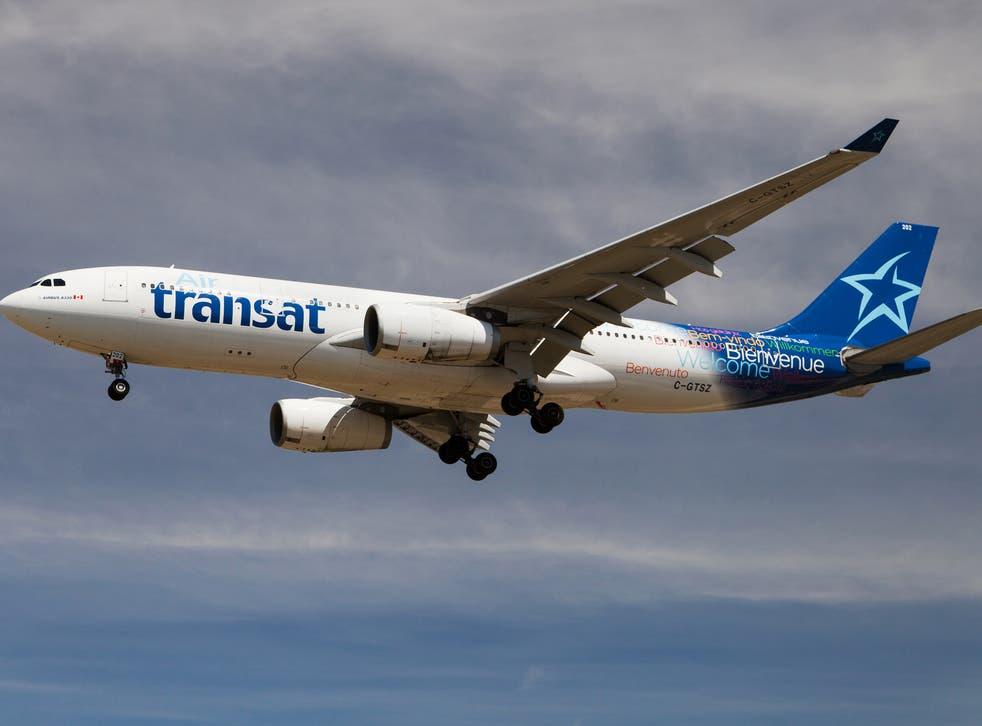 The bugs were found on an Air Transat flight