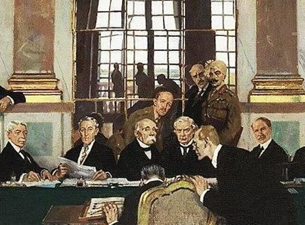 The Signing of Peace in the Hall of Mirrors, Versailles, 28 June 1919 – by William Orpen