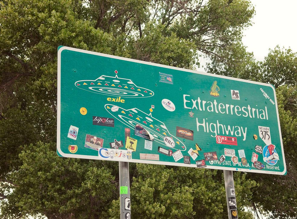 The Extraterrestrial Highway near Area 51 in Nevada