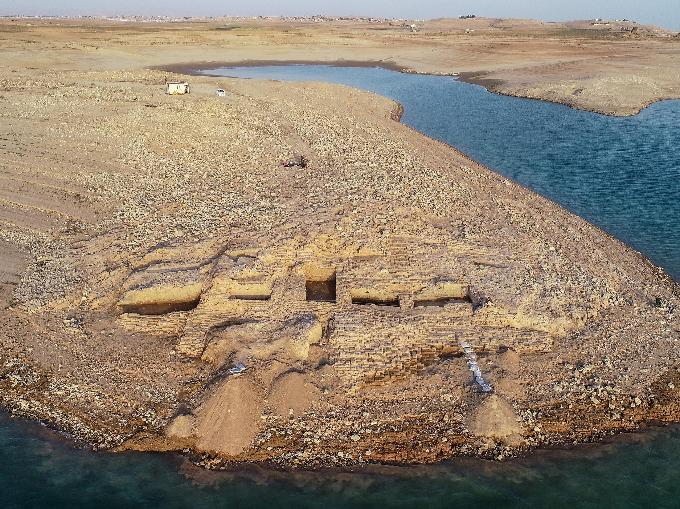 Ancient palace revealed after drought drains water from Iraq reservoir