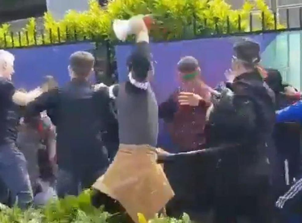 Fans of Pakistan and Afghanistan clashed outside Headingley Cricket Ground