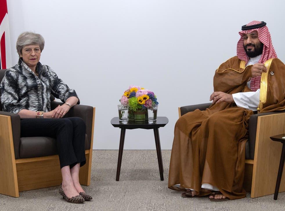 Theresa May meeting Mohammed bin Salman on Saturday