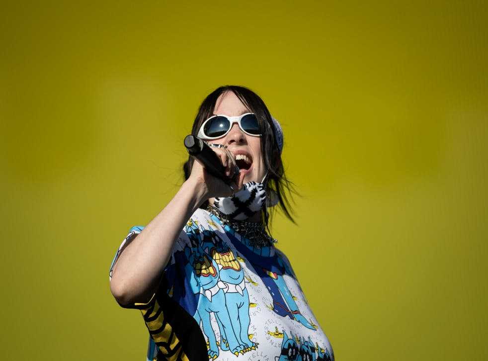 Billie Eilish performing on the Other Stage on the fifth day of the Glastonbury Festival at Worthy Farm