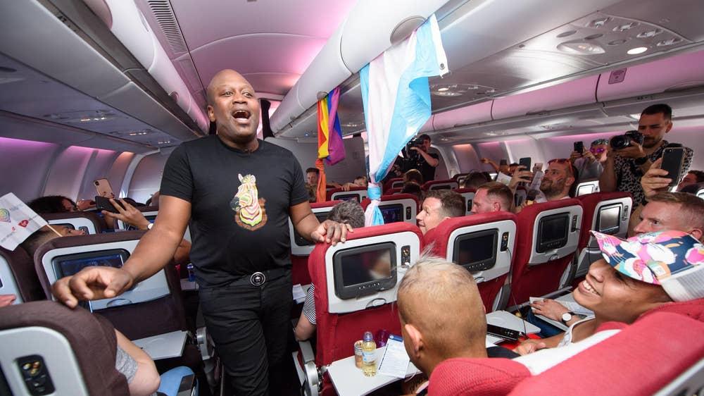 Onboard the Virgin Atlantic Pride Flight to New York   The
