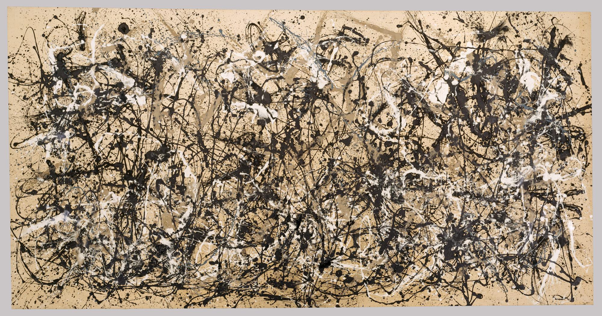 Jackson Pollock's Autumn Rhythm (Number 30) (1950) at the Metropolitan Museum of Art, New York