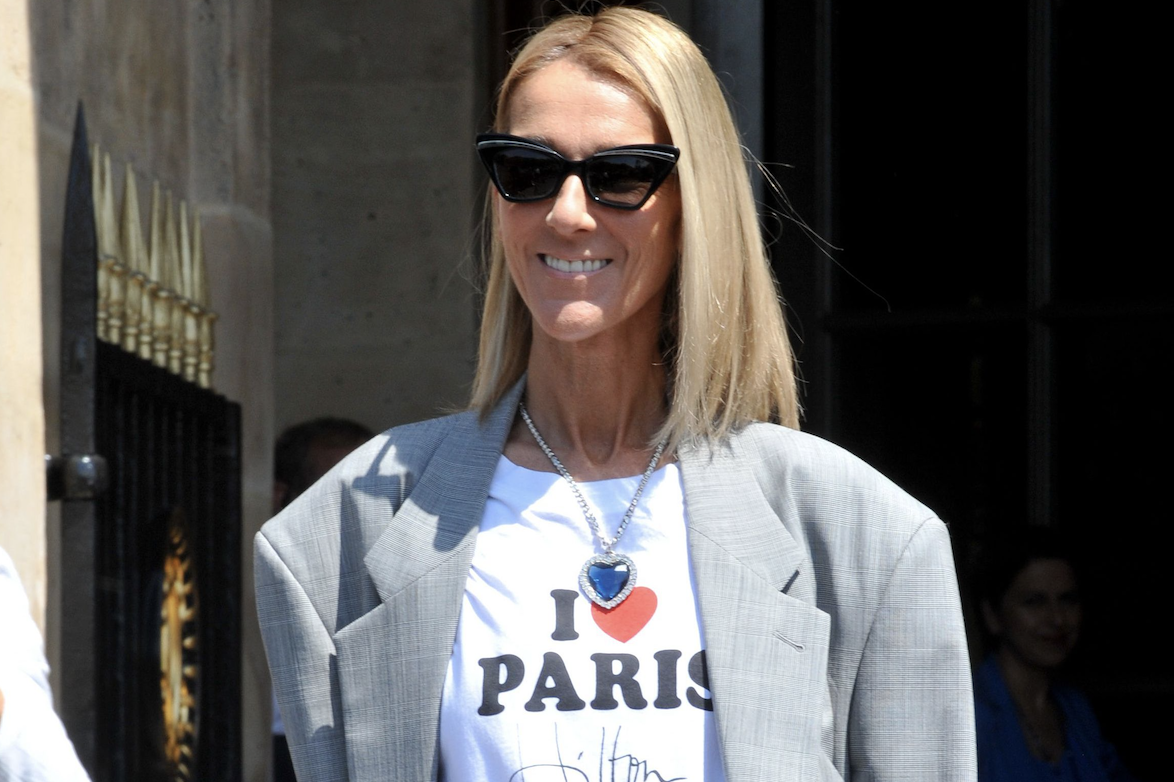 Celine Dion wears iconic Titanic necklace during Couture Fashion Week