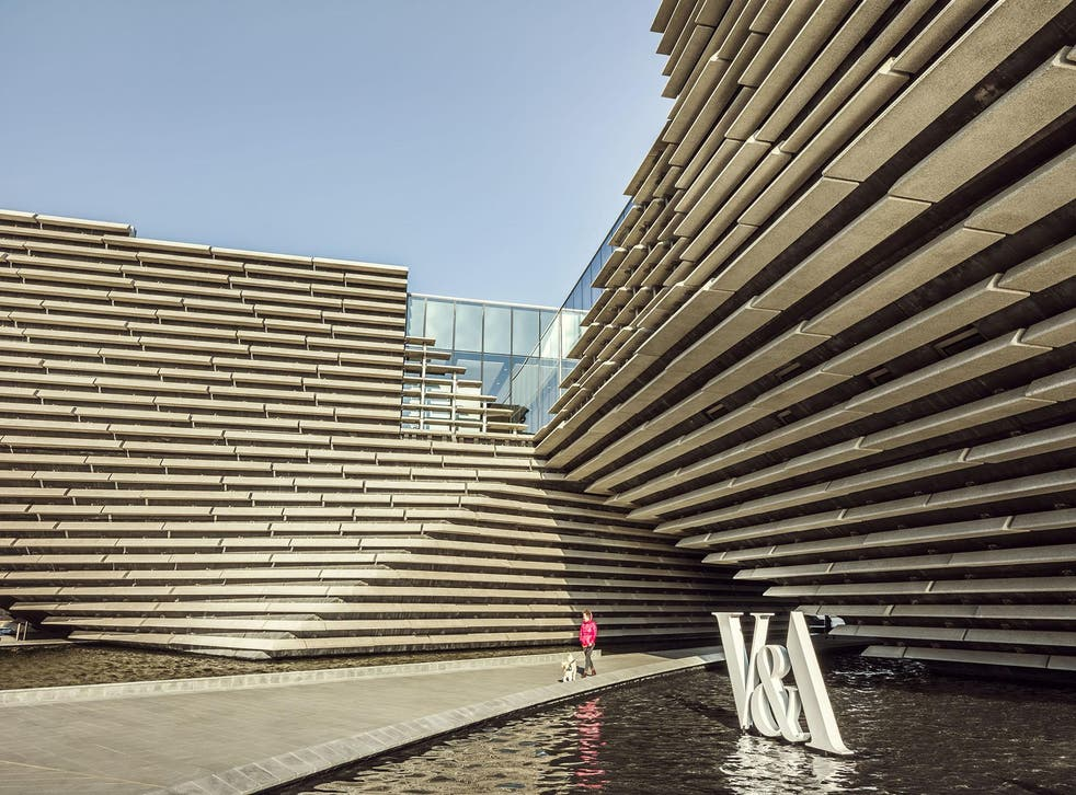Tokyo architect Kengo Kuma's design for the V&A Dundee was inspired by the craggy Scottish landscape which surrounds it