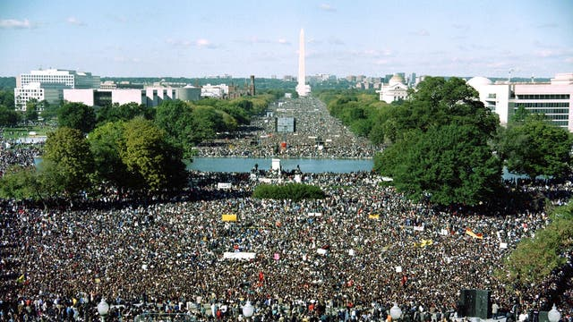 Nation of Islam leader Louis Farrakhan called the Million Man March in 1995 in order that black men could improve their image in society