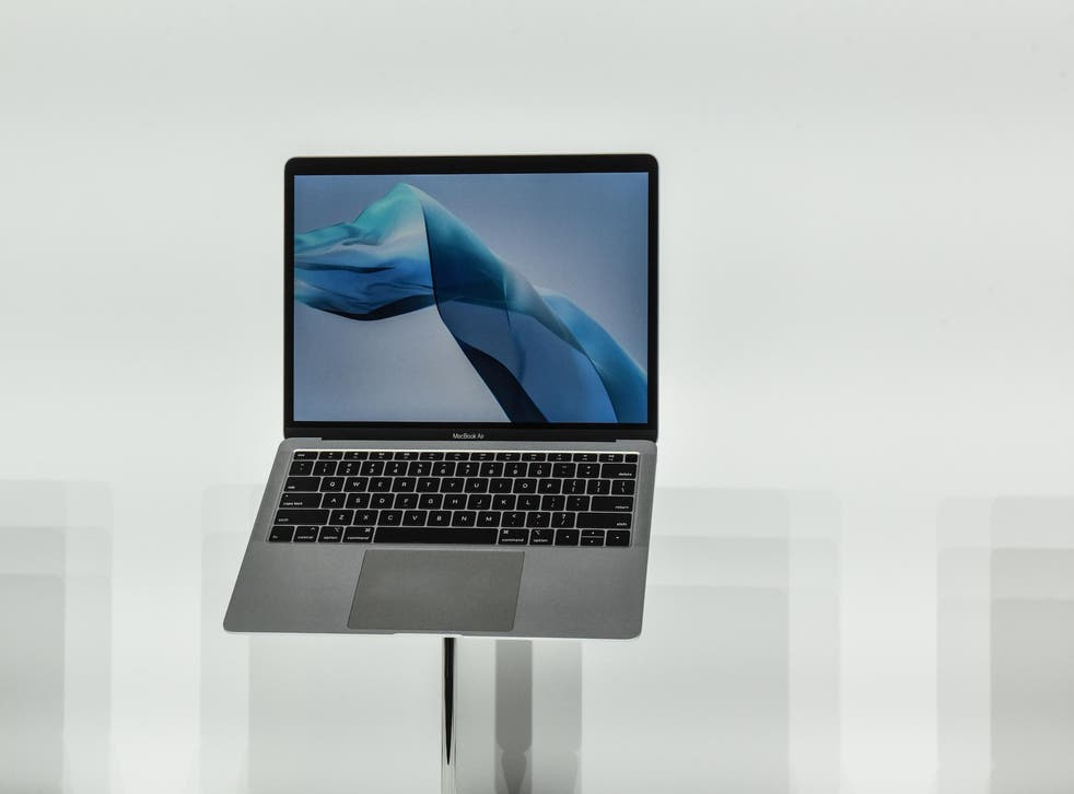 Apple unveils a new MacBook Air during an Apple launch event at the Brooklyn Academy of Music on October 30, 2018 in New York City