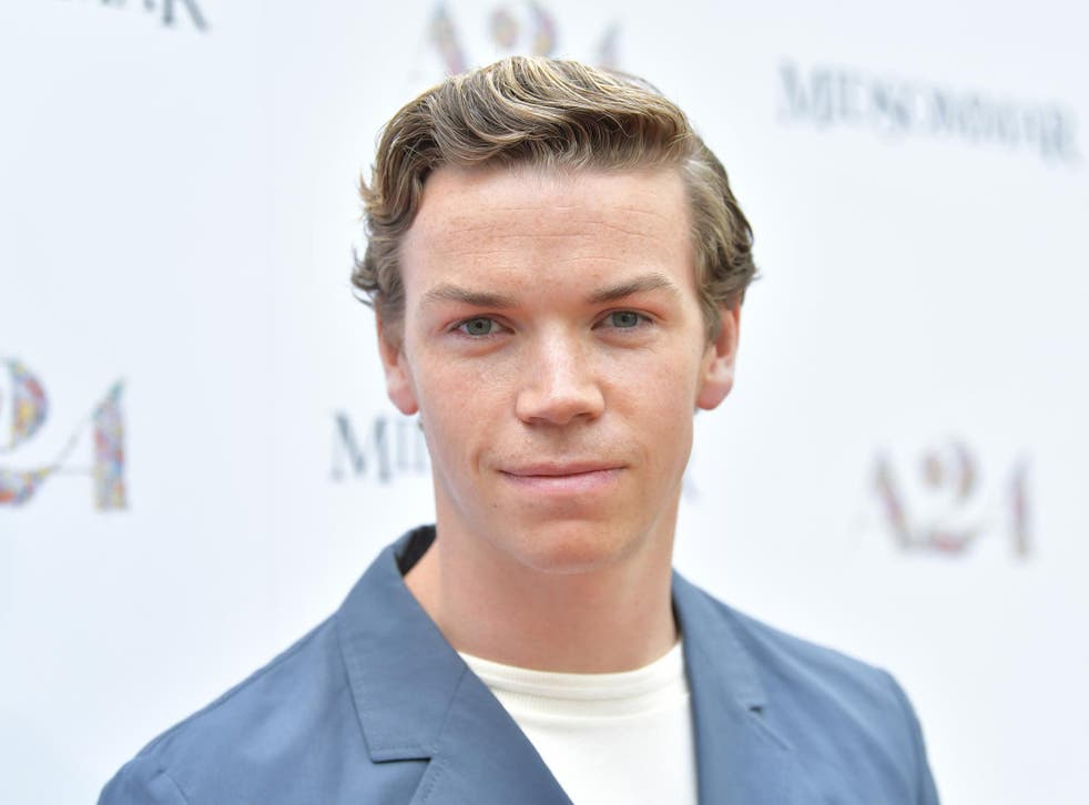 Poulter attends the premiere of 'Midsommar' in Hollywood in June
