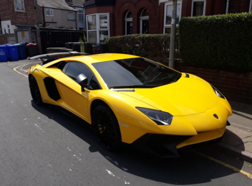 Police shared this image of the luxury car which was seized as its driver failed to insure it