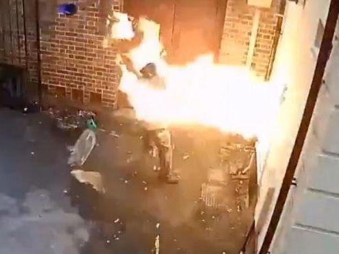 White supremacist accidentally sets own head on fire while trying to burn down synagogue