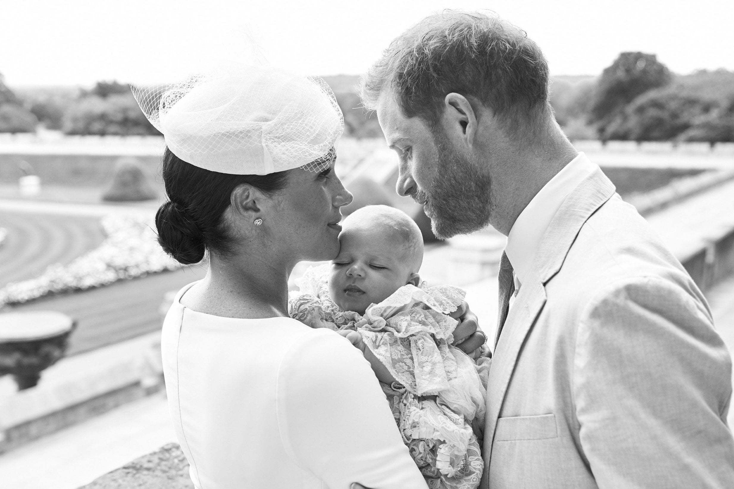 Meghan Markle appears to pay tribute to royal wedding with choice of jewellery at Archie's christening