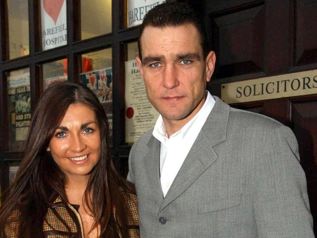 Vinnie Jones with his late wife, Tanya, who has died aged 53 after a long illness