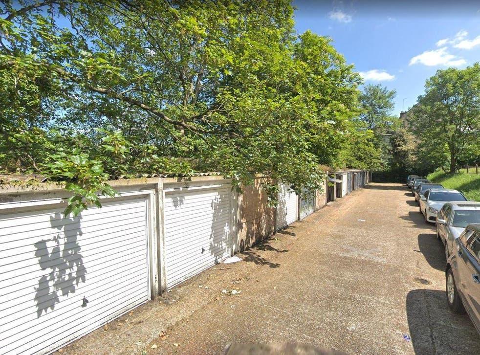 Garages on Prendergast Road in Blackheath