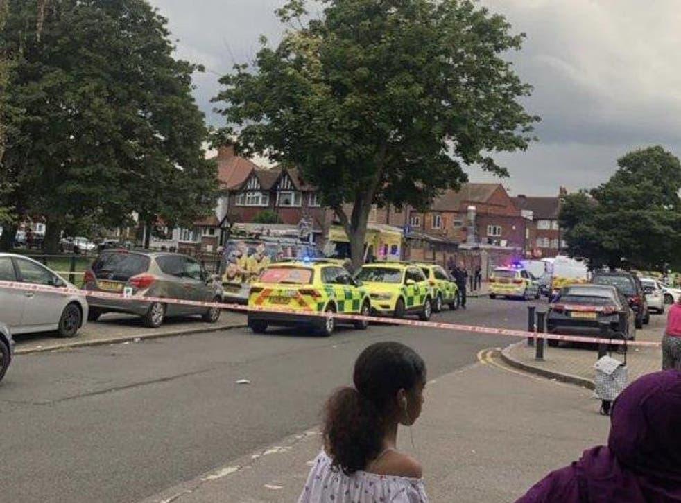 Police cordon at Brent River Park in Wembley
